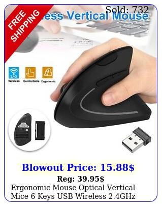 ergonomic mouse optical vertical mice keys usb wireless ghz dpi p