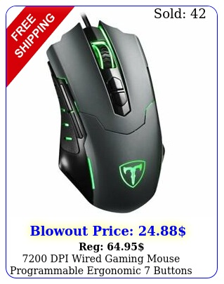 dpi wired gaming mouse programmable ergonomic buttons mice rgb backli