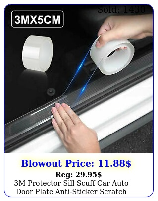 m protector sill scuff car auto door plate antisticker scratch bumper stri