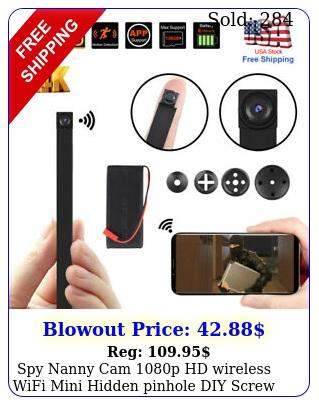 spy nanny cam p hd wireless wifi mini hidden pinhole diy screw camera dv