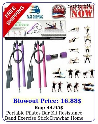 portable pilates bar kit resistance band exercise stick drawbar home yoga gym u