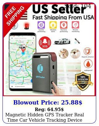 magnetic hidden gps tracker real time car vehicle tracking device multipurpos