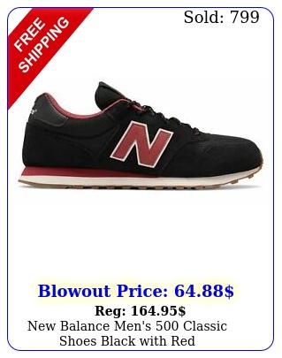 balance men's classic shoes black with re