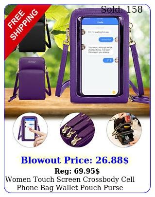 women touch screen crossbody cell phone bag wallet pouch purse shoulder cas