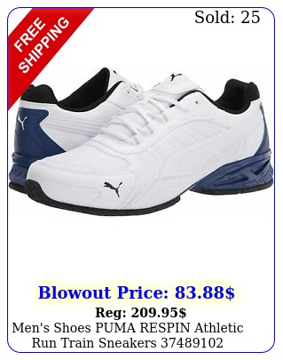 men's shoes puma respin athletic run train sneakers white blac