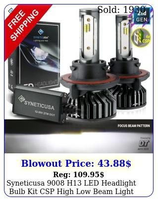 syneticusa h led headlight bulb kit csp high low beam light k whit