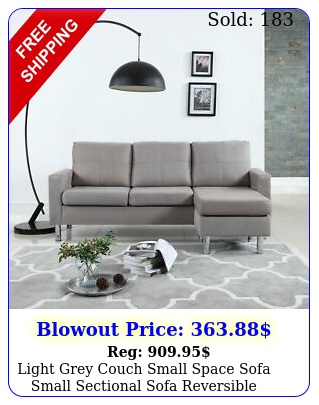 light grey couch small space sofa small sectional sofa reversible couc