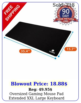 oversized gaming mouse pad extended xxl large keyboard mouse mat antislip blac