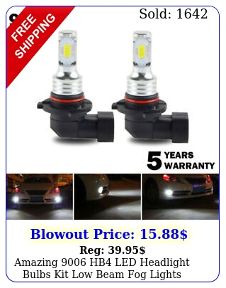 amazing hb led headlight bulbs kit low beam fog lights upgrade w
