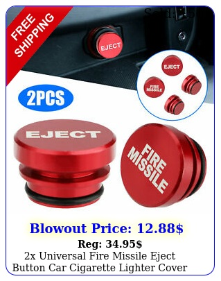 x universal fire missile eject button car cigarette lighter cover accessorie
