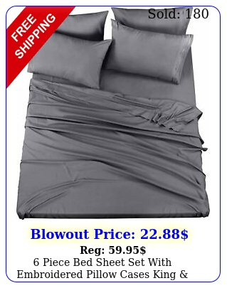 piece bed sheet set with embroidered pillow cases king  queen utopia beddin