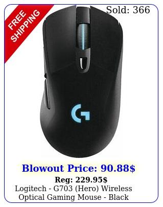 logitech g hero wireless optical gaming mouse blac
