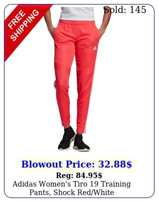 adidas women's tiro training pants shock redwhit