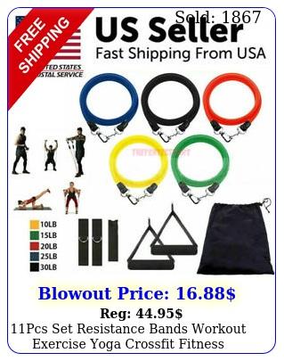 pcs set resistance bands workout exercise yoga crossfit fitness training tube