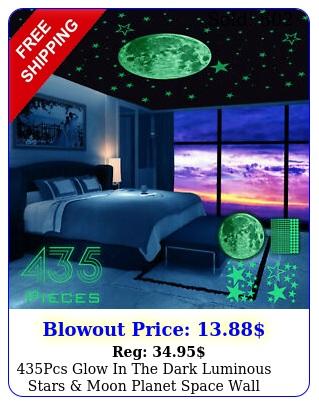 pcs glow in the dark luminous stars moon planet space wall stickers deca