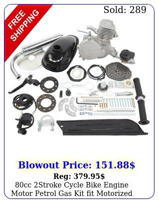 cc stroke cycle bike engine motor petrol gas kit fit motorized bicycle chrom