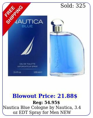 nautica blue cologne by nautica oz edt spray me