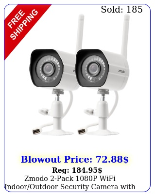 zmodo pack p wifi indooroutdoor security camera with night visio