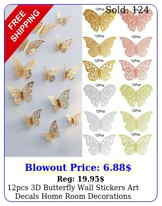 pcs d butterfly wall stickers art decals home room decorations decor type