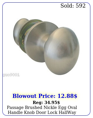 passage brushed nickle egg oval handle knob door lock hallway closet lock