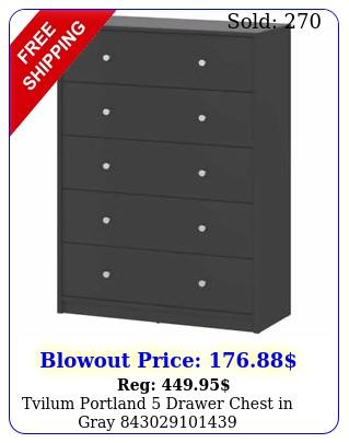 tvilum portland drawer chest in gra