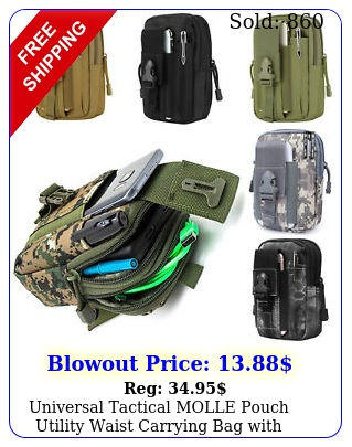 universal tactical molle pouch utility waist carrying bag with phone holder cam