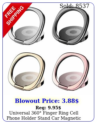 universal finger ring cell phone holder stand car magnetic metal plate us