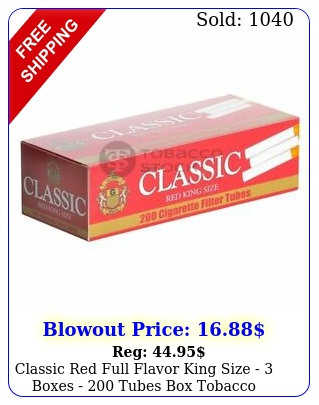 classic red full flavor king size  boxes  tubes tobacco cigarett