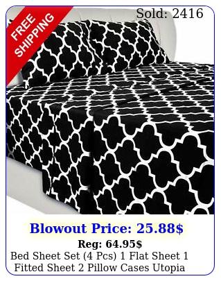 bed sheet set pcs flat sheet fitted sheet pillow cases utopia beddin