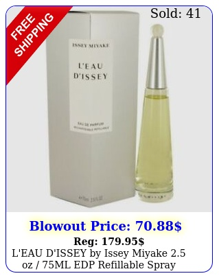 l'eau d'issey by issey miyake oz ml edp refillable spray perfume wome