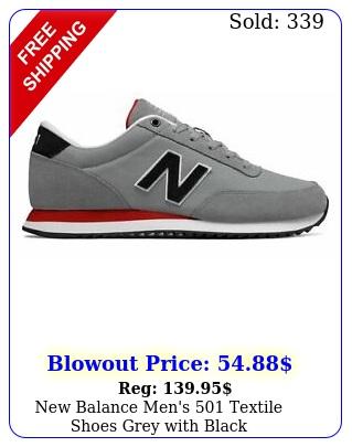 balance men's textile shoes grey with blac