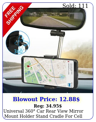 universal car rear view mirror mount holder stand cradle cell phone gp