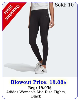 adidas women's midrise tights blac