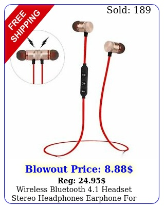 wireless bluetooth headset stereo headphones earphone iphone samsung ht