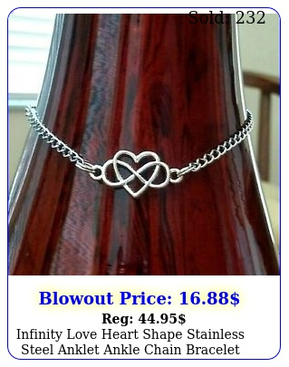 infinity love heart shape stainless steel anklet ankle chain bracelet women foo