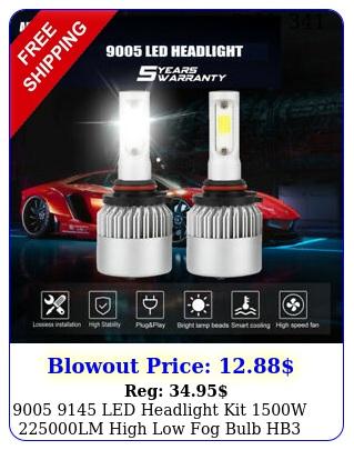 led headlight kit w lm high low fog bulb hb h k whit