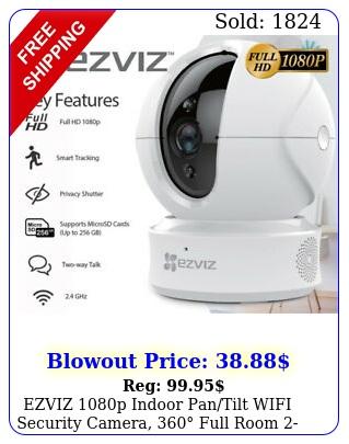 ezviz p indoor pantilt wifi security camera full room way talk cc