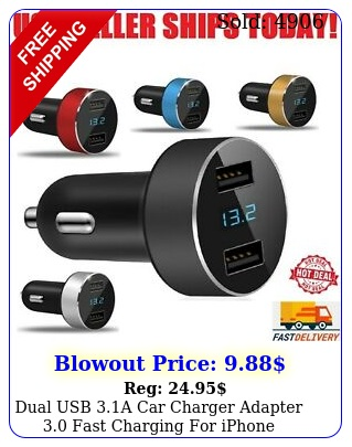 dual usb a car charger adapter fast charging iphone samsung htc l