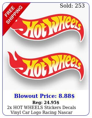 x hot wheels stickers decals vinyl car logo racing nascar window truck usa wal