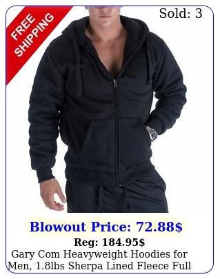 gary com heavyweight hoodies men lbs sherpa lined fleece full zip up pl