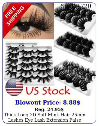 thick long d soft mink hair mm lashes eye lash extension false eyelashe
