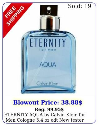 eternity aqua by calvin klein men cologne oz edt teste