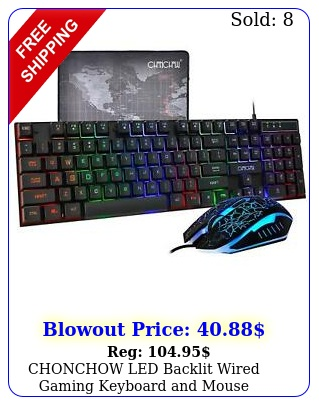 chonchow led backlit wired gaming keyboard mouse mousepad upgrade versio