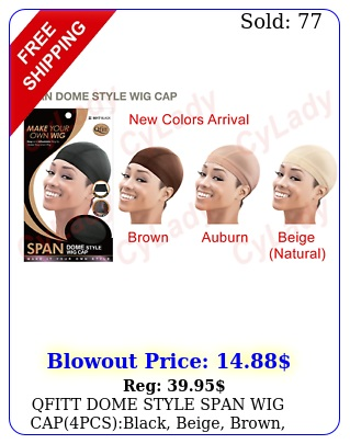 qfitt dome style span wig cappcs blac