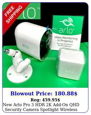 arlo pro hdr k addon qhd security camera spotlight wireless w batter