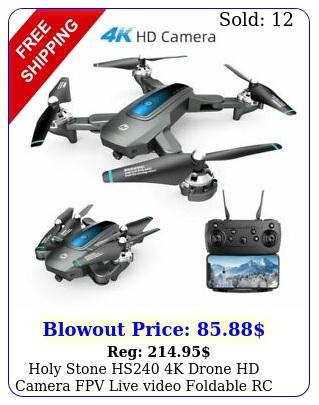 holy stone hs k drone hd camera fpv live video foldable rc quadcopter selfi