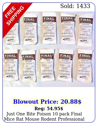 just one bite poison pack final mice rat mouse rodent professional d con bai
