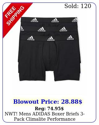 nwt mens adidas boxer briefs pack climalite performance underwear athleticfi