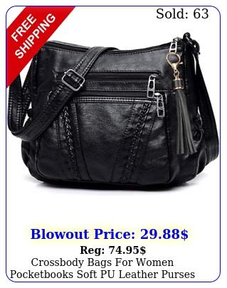 crossbody bags women pocketbooks soft pu leather purses handbags multi