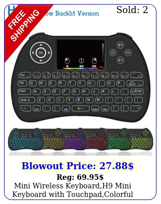 mini wireless keyboardh mini keyboard with touchpadcolorful backlit wireles